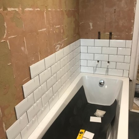 New bathroom installation in Muswell Hill