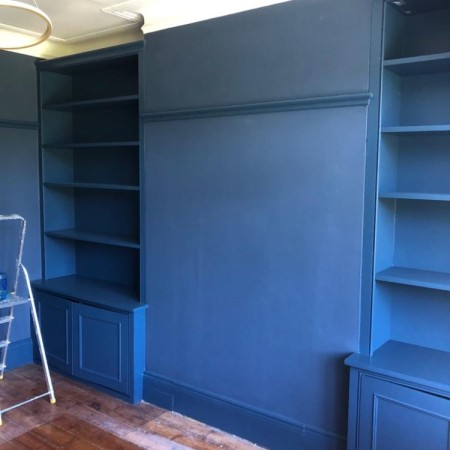 Living room painting, shelving, decorating - North London