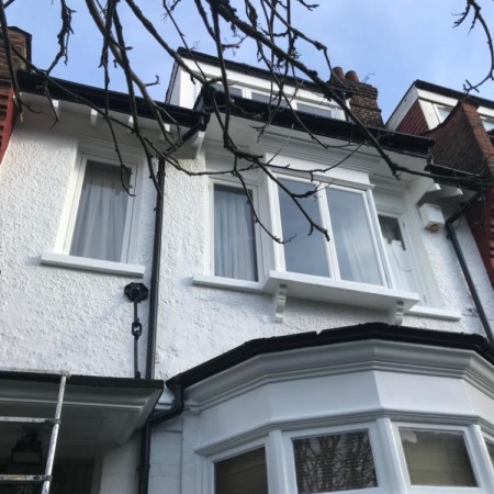 Exterior house painting in North London, Highgate, N6