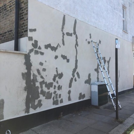 Exterior property painting North London, before
