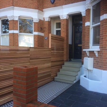 External painting and new fence installed at property in Alexandra Park Rd, N22