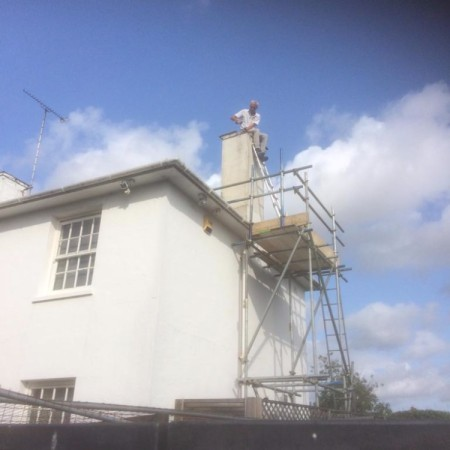 External painting & Chimney Repair In North London. Completed offf ladders (Conley Hatch Lane Hamden)