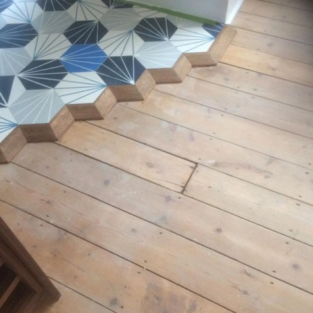 New flooring in Kitchen, Muswell Hill, N10