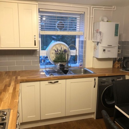 After: New kitchen with electrics and more in Camden Town, North London