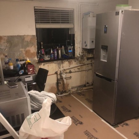 Before: New kitchen with electrics and more in Camden Town, North London