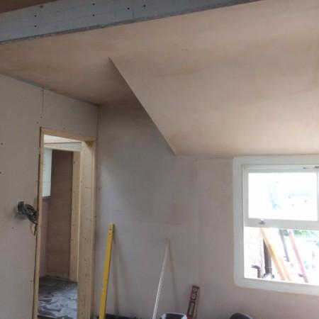 Internal work on a loft conversion including: plaster boarding, plastering, carpentry, painting & MDF inbuilt cupboards - North London