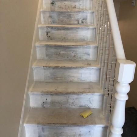 Stairs refurbishment North London, during