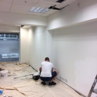 Painting shop unit in the British Design Centre in Islington