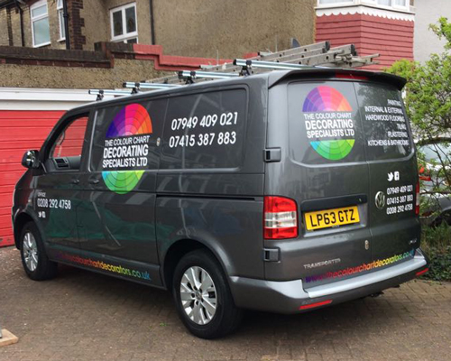 The Colour Chart Decorators Based In Mussel Hill, North London